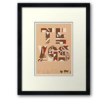 Typographic Texas State Poster Framed Print