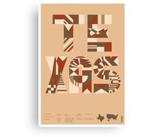 Typographic Texas State Poster Canvas Print