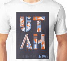 Typographic Utah State Poster Unisex T-Shirt