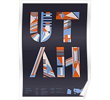 Typographic Utah State Poster Poster