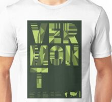 Typographic Vermont State Poster Unisex T-Shirt