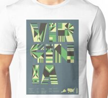 Typographic Virginia State Poster Unisex T-Shirt
