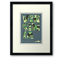 Typographic Virginia State Poster Framed Print