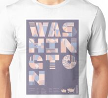 Typographic Washington State Poster Unisex T-Shirt