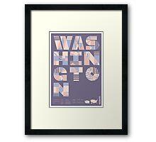 Typographic Washington State Poster Framed Print