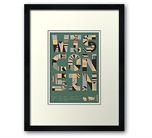 Typographic Wisconsin State Poster Framed Print