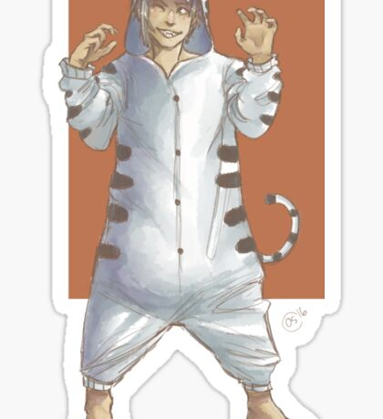 Tiger Boy Sticker
