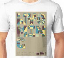 Typographic Wyoming State Poster Unisex T-Shirt
