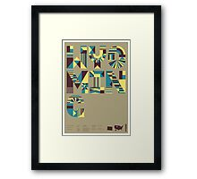 Typographic Wyoming State Poster Framed Print