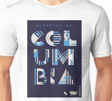 Typographic District of Columbia State Poster Unisex T-Shirt
