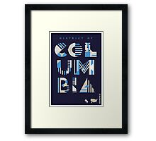 Typographic District of Columbia State Poster Framed Print