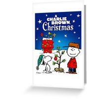 RAB CHARLIE BROWN CHRISTMAS STAR PEANUTS Greeting Card
