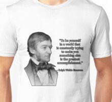 Ralph Waldo Emerson on Authenticity Unisex T-Shirt