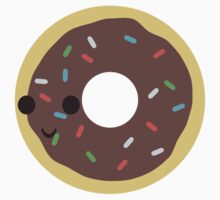 Cute Chocolate Glazed donut with sprinkles Kids Clothes