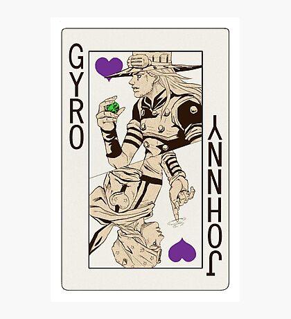 Gyro Zeppeli - Jack of Hearts Photographic Print