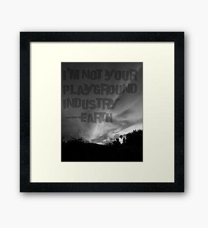Unsilent Earth - Punk Variation Framed Print