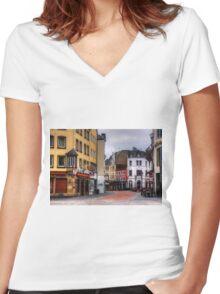 Sternstraße Women's Fitted V-Neck T-Shirt