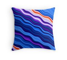 Clorful abstract fractal line background Throw Pillow