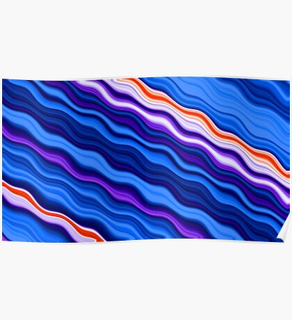 Clorful abstract fractal line background Poster