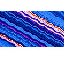 Clorful abstract fractal line background Photographic Print