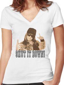 Honey G Women's Fitted V-Neck T-Shirt