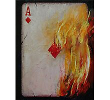 Ace of Diamonds Photographic Print