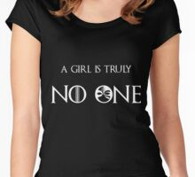 A girl is no one Women's Fitted Scoop T-Shirt