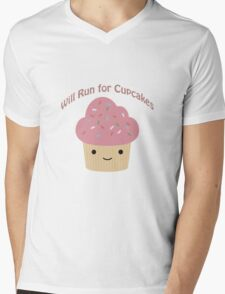 Will Run For Cupcakes Mens V-Neck T-Shirt