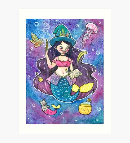 Witchy Mermaid Art Print