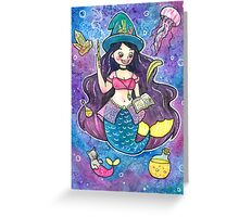 Witchy Mermaid Greeting Card