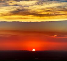 Sunset from Transmountain Road by Ray Chiarello