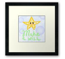 Kawaii Starfish Framed Print