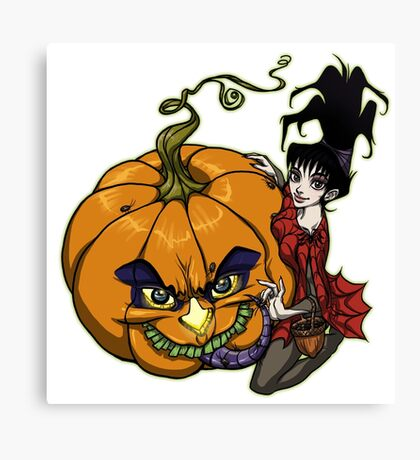 LYDIA & the BEETLEJUICE-O-LANTERN Canvas Print