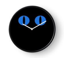 Blue Minimalistic Cat Eyes Clock