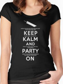 Keep Kalm Women's Fitted Scoop T-Shirt