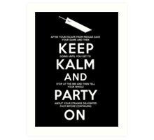 Keep Kalm Art Print