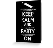 Keep Kalm Greeting Card