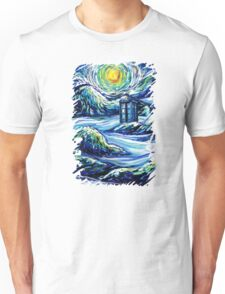 Tardis Starry Night Art Unisex T-Shirt