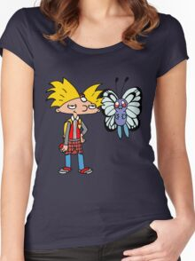 Hey Arnold! Pokemon Trainer Women's Fitted Scoop T-Shirt