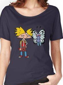 Hey Arnold! Pokemon Trainer Women's Relaxed Fit T-Shirt