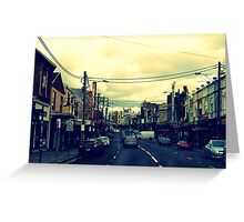 Inner City Suburb Greeting Card