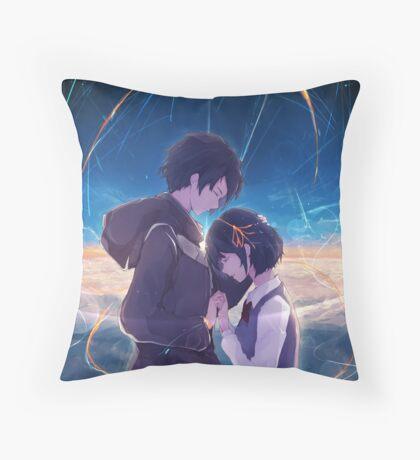 Kimi No Na Wa - Your Name love art Throw Pillow