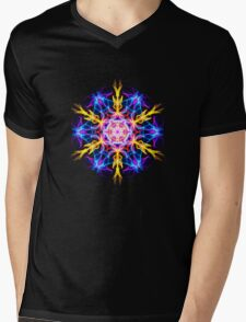 Energetic Geometry-   Merkaba Activation  Mens V-Neck T-Shirt