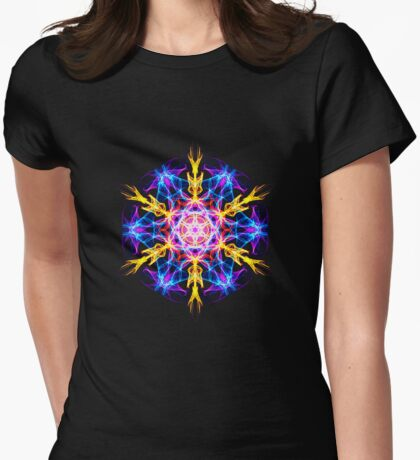 Energetic Geometry-   Merkaba Activation  Womens Fitted T-Shirt