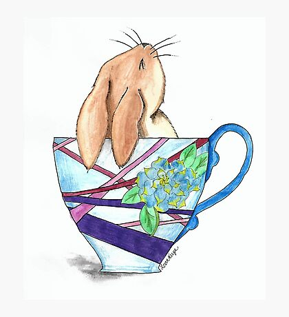 Cup Full of Fluff Teacup Bunny Photographic Print