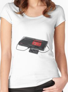 SEGA Master System / Power Base Women's Fitted Scoop T-Shirt