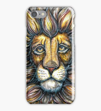 lion design hand draw iPhone Case/Skin