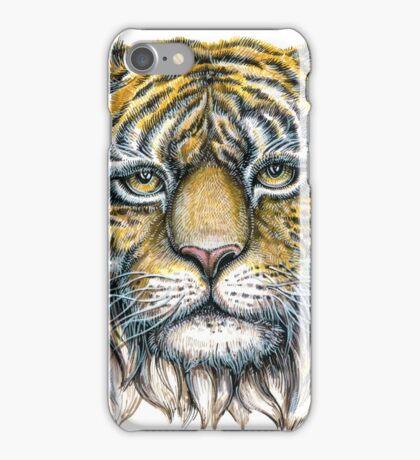 tiger face illustration  iPhone Case/Skin