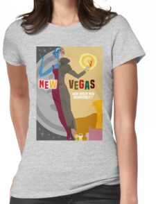 Vintage New Vegas Tourism Poster: Platinum Chip Womens Fitted T-Shirt