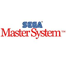 SEGA Master System Logo (black background) Photographic Print